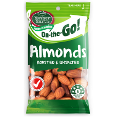 MOTHER EARTH  ALMONDS UNSALT ROAST 50g (12)